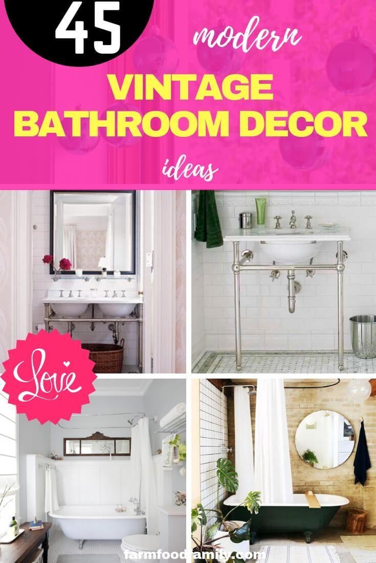 45 Modern Vintage Bathroom Decor Designs Ideas For 2020