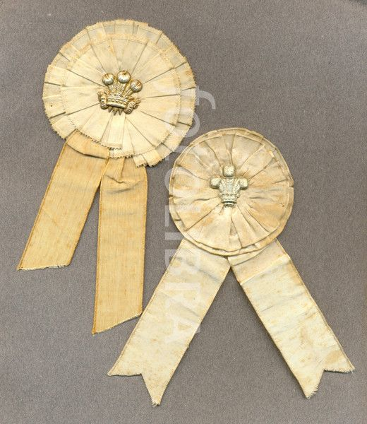 Wedding favours worn at wedding of Prince of Wales to Princess Alexandra of Denmark 1863.