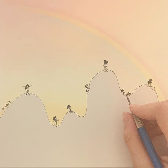 ups & downs  ❑ illustration by @ISKIII