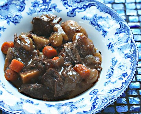 Slow cooker beef stew with potatoes, parsnips and rutabaga {The Perfect Pantry}