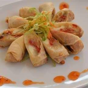 Zöldséges, sajtos tavaszi tekercs - Osaka Sushi & Wok Bar | Rendeld meg most a LeFoodon, Házhozszállítással, online,másodpercek alatt: lefood.hu/osakasushi | Összetevők: 5db | EN: Order now online: Vegetable, cheese spring rolls: 5pcs