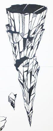 Levitation. Oil on canvas 240x100 cm - Art of Britta Westhausen