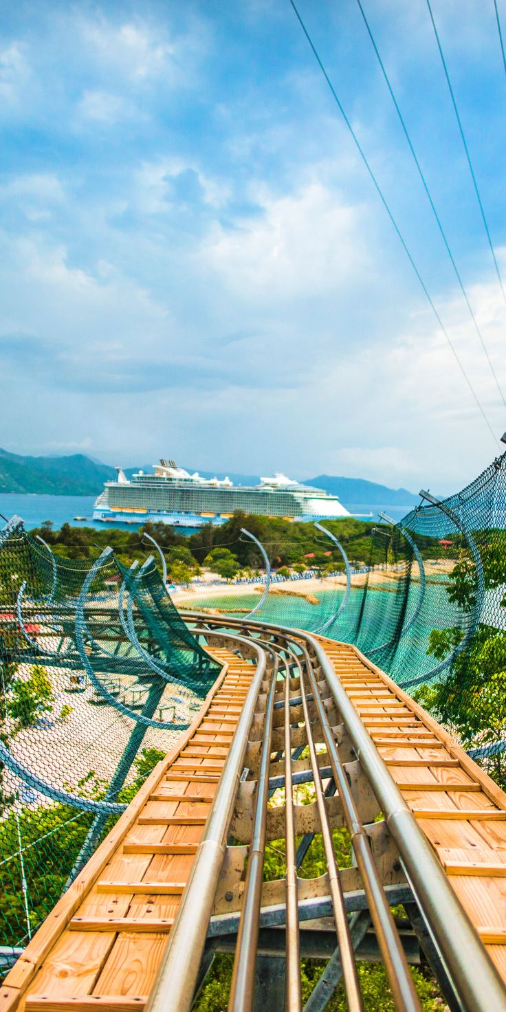 Labadee, Haiti | Embark on the Dragon's Tail Coaster, a Royal Caribbean attraction located on Santa Maria's lookout mountain that propels riders down the track at a bustling 30 miles per hour.
