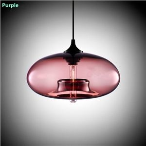 Modern Glass Pendant Light in Blue Bubble Design