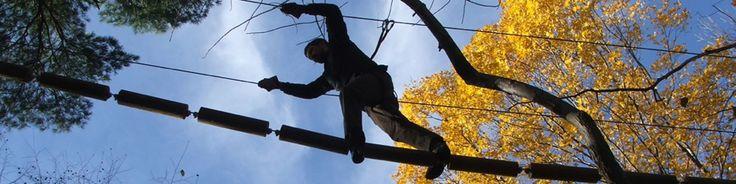 Zipline adventure park in Maryland
