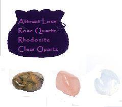 Gemstone crystal set Attract Love