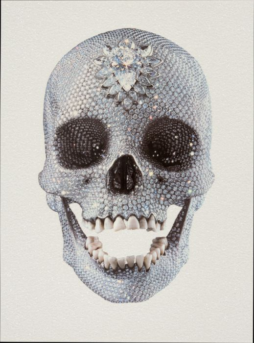 For the Love of God 'White' * Diamond dust* door Damien Hirst - Te huur/te koop via Kunsthuizen.nl #damienhirst #fortheloveofgod #diamonddust #art #kunsthuizen #kunstuitleen