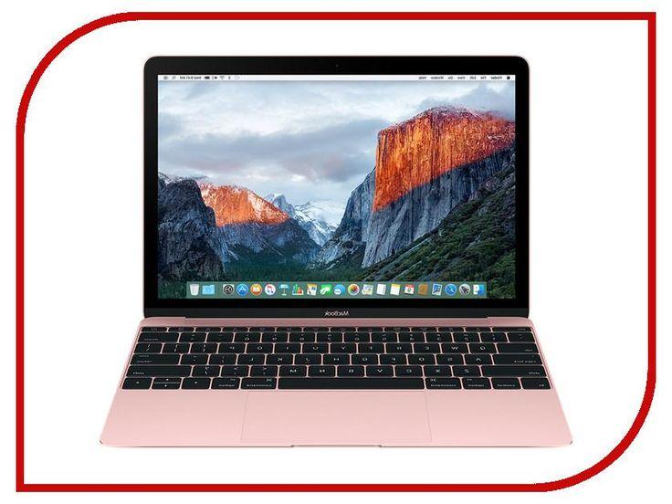 Ноутбук Apple MacBook 12 MMGM2RU/A Rose Gold Intel Core M5 1.2 GHz/8192Mb/512Gb SSD/No ODD/Intel Hd Graphics/Wi-Fi/Bluetooth/Cam/12.0/2304x1440/Mac Os X