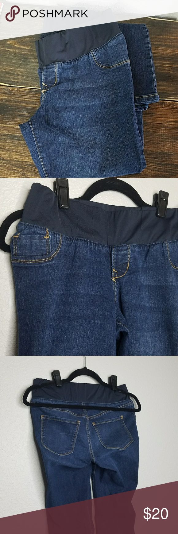 OLD NAVY Maternity Boot Cut Jeans Excellent condition dark wash low panel maternity jeans. Size 6. Old Navy Jeans