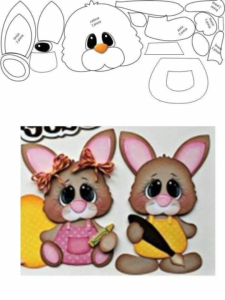 Bunnies Paper Piecing