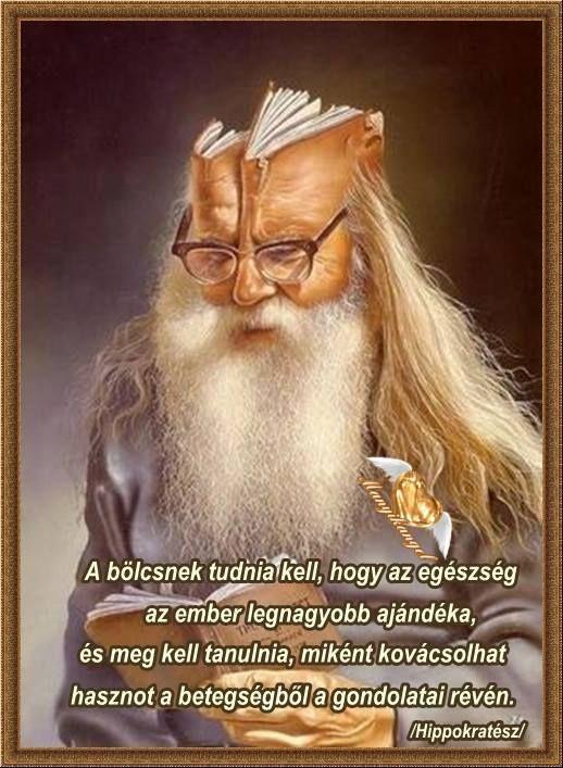 Hippokratész idézete a betegségről. A kép forrása: Idézetek, bölcsességek mindenről