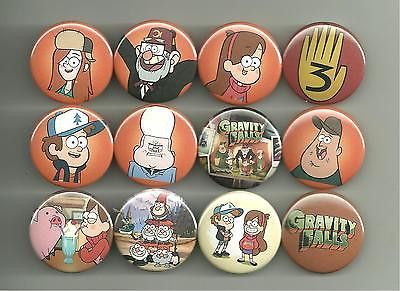 Gravity Falls Set 1. All pins are 1.5 inches in diameter. All major credit cards as well as Paypal accepted. All pin orders ship for free.