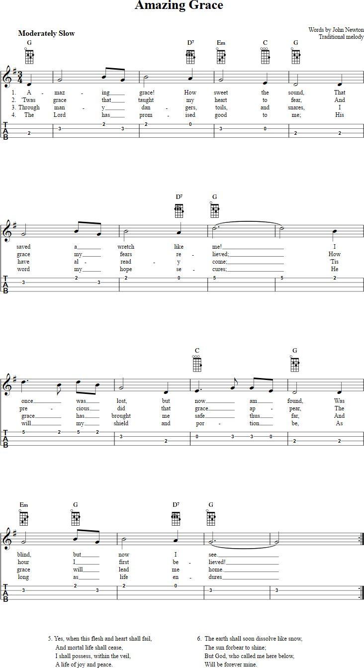 840 best ukulele images on pinterest guitars music and nativity amazing grace ukulele tab hexwebz Gallery