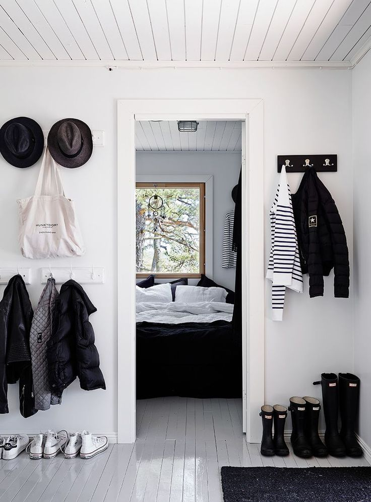 Black and white house style / entrance coat racks