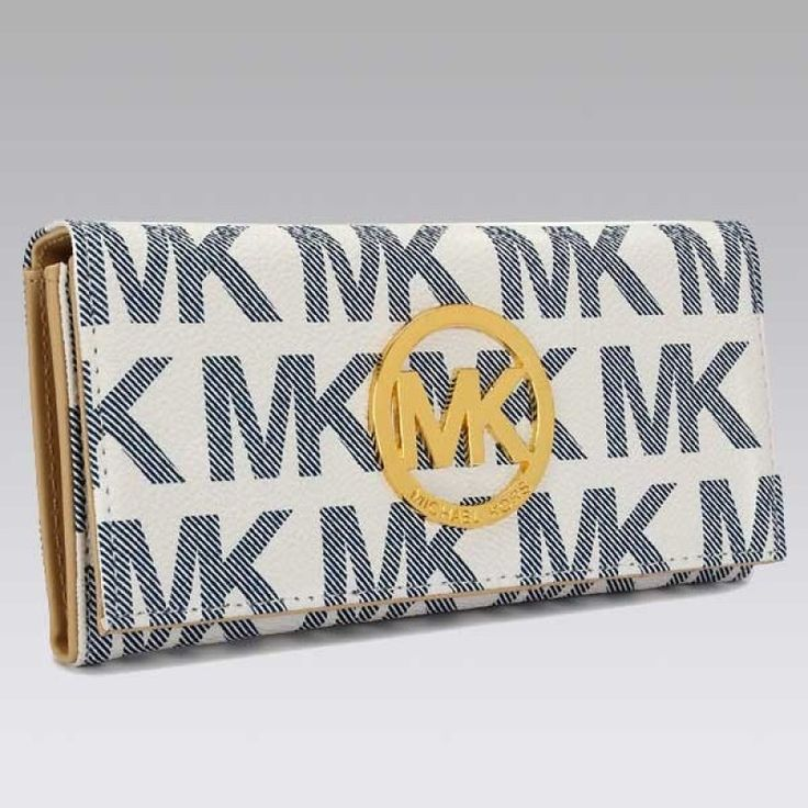 MICHAEL Michael Kors Continental Logo Anti-flash white Wallet