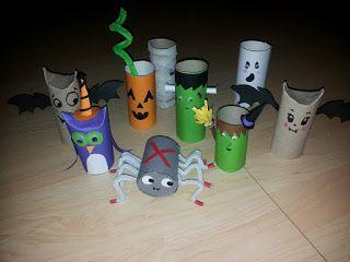 Saskia's knutsel blog: Halloween - Toilet Roll Crafting