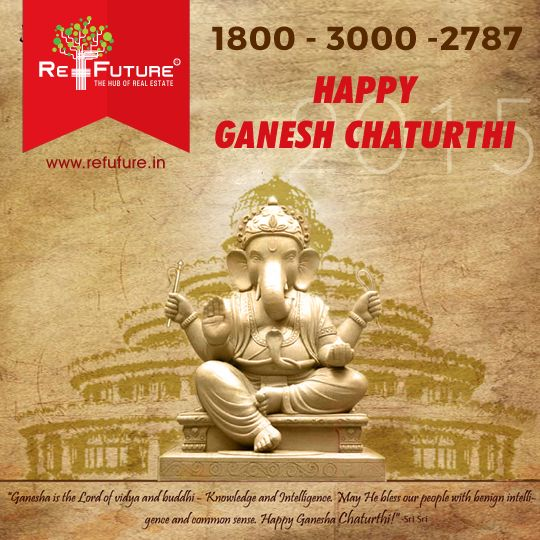 """RE-FUTURE : Wish U all a very Happy """" Ganesh Chaturthi """" #Franchise #Realestate"""