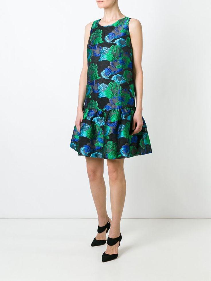 ¡Cómpralo ya!. Gianluca Capannolo Vestido De Jacquard Floral. Vestido de jacquard floral verde de Gianluca Capannolo. , vestidoinformal, casual, informales, informal, day, kleidcasual, vestidoinformal, robeinformelle, vestitoinformale, día. Vestido informal  de mujer color verde de GIANLUCA CAPANNOLO.