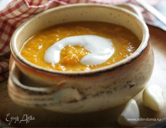 Тыквенный суп на кокосовом молоке.