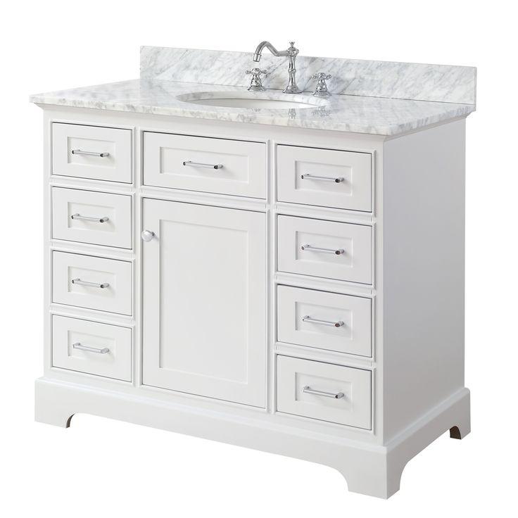 Aria 42-inch Vanity (Carrara/White)