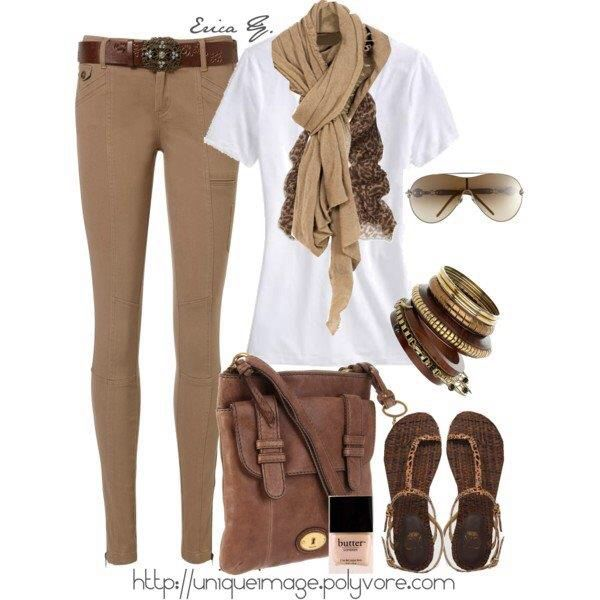 Find brown scarves and match them