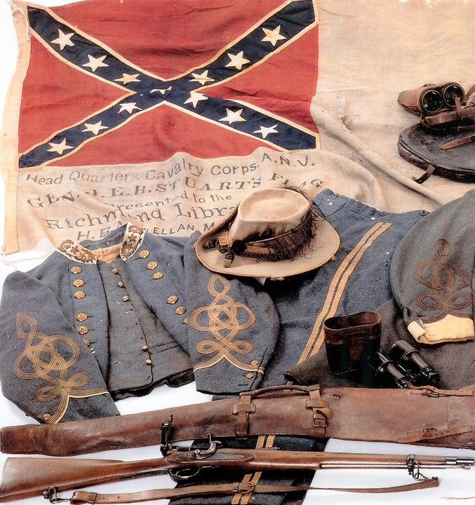 Major General J.E.B. Stuart's uniform.  Killed in action fighting for our independence from invaders.