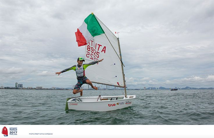 L'italiano Marco Gradoni (Tognazzi Marine Village) è Campione del Mondo Optimist 2017 a Pattaya in Thailandia