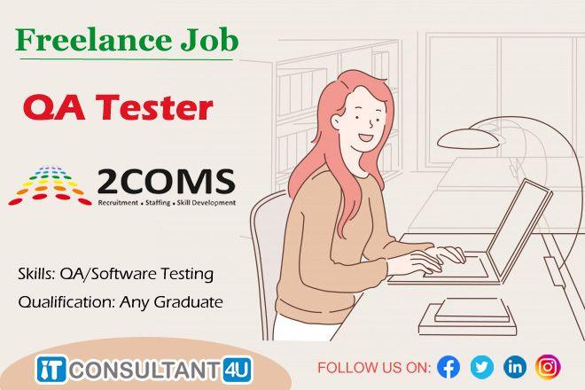 Freelancejobs Qatester Freelancer Itconsultant4u Workfromhome Remotework In 2020 Freelancing Jobs Skills Development Software Testing