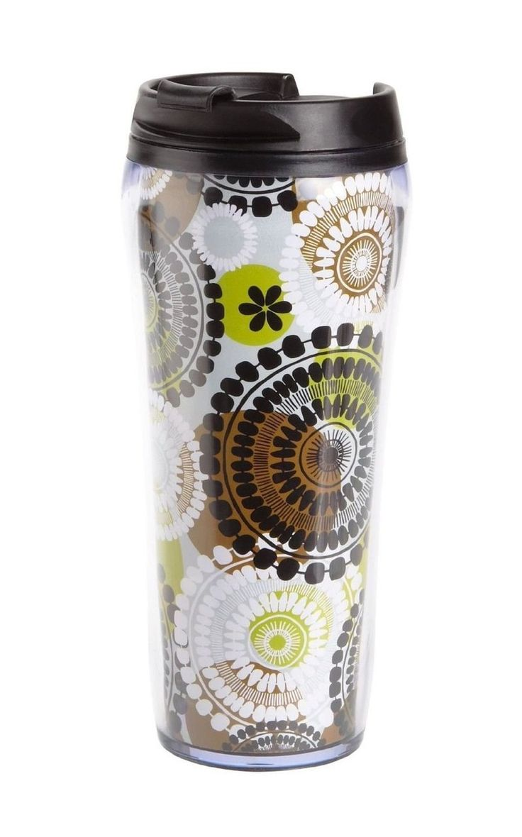 VERA BRADLEY Travel Mug in Cocoa Moss $17.95 TOTAL COST TO YOUR DOOR! LOWEST PRICE GUARANTEE...FREE SHIPPING (Pick Up Also Available)-CLICK HERE TO VIEW AT CULINART: http://stores.shopculinart.com/vera-bradley-travel-mug-in-cocoa-moss-17-95-total-lowest-price-anywhere-guaranteed/