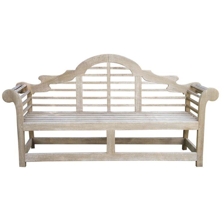Fine English Vintage Lutyens Bench Made in Teak