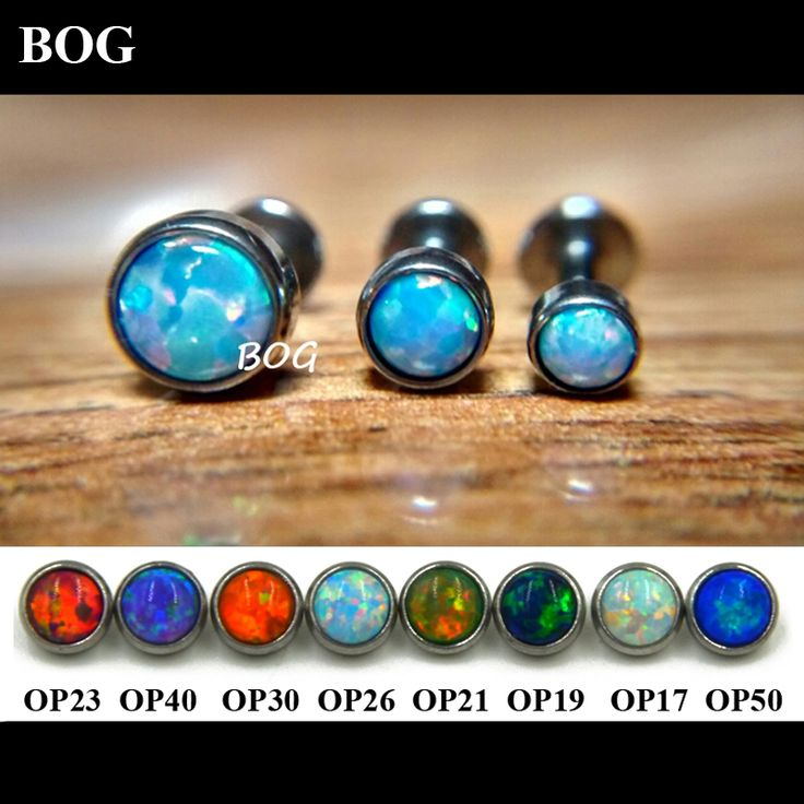 Lot 3Pcs Opal Stone Labret Monroe Lip Stud Ear Piercing Cartiliage Tragus Helix Earring Nose Stud 16g Lip Ring Body Jewelry