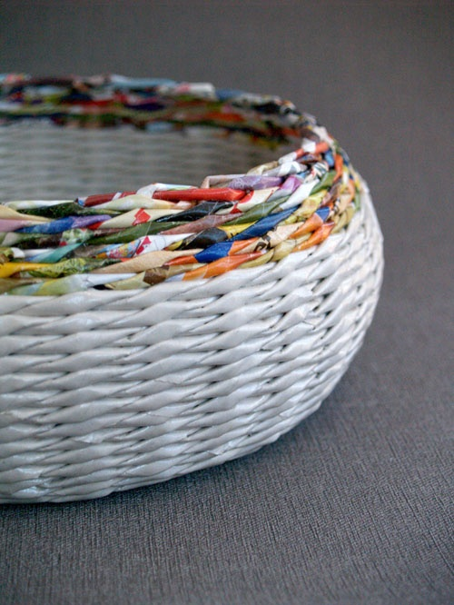 Handicraft Newspaper Basket : Best images about papierowa wiklina on