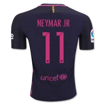 Barcelona 16-17 Neymar Jr 11 Udebane Trøje Kortærmet.  http://www.fodboldsports.com/barcelona-16-17-neymar-jr-11-udebane-troje-kortermet.  #fodboldtrøjer