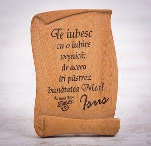 """Tablou din lemn """"Te iubesc cu o iubire vesnica"""". #woodenboard"""