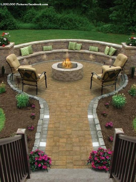This is the idea for the backyard