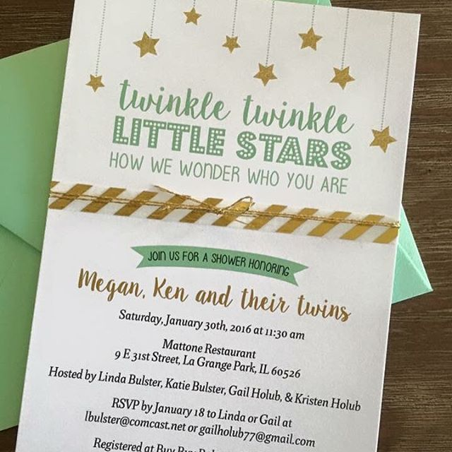 Love When Our Clients Who Come To Us For Wedding Invitations Reach Back Out  And Use Our Services For Baby Shower Invitations! Obsessed With This Mint  And ...