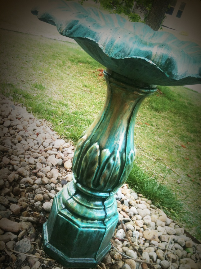 Faux Finish Tutorial Verdigris Birdbath Techniques