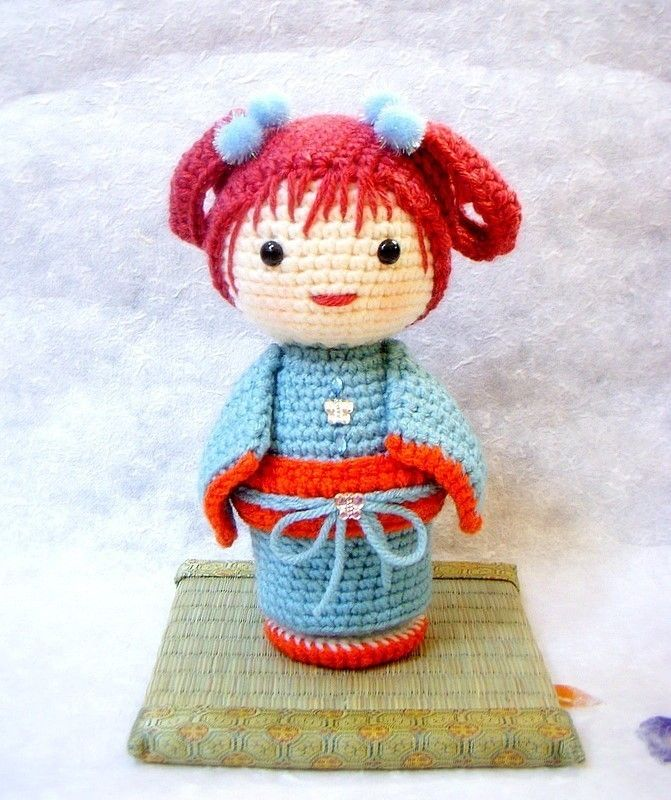 """Crochet Amigurumi pattern - ChoCho - Kokeshi doll tutorial PDF. via Etsy."" #Amigurumi  #crochet"