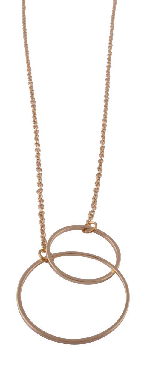 Met deze elegante goudkleurige halsketting maak je jouw kerstlook compleet. #necklace #gold #laligna #christmas
