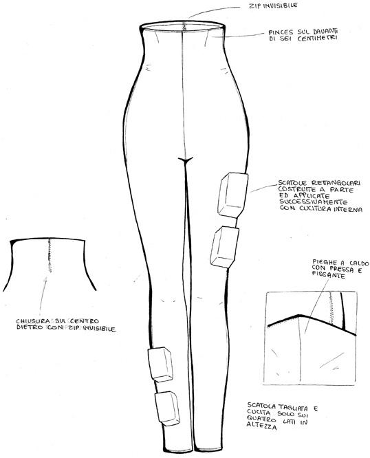 Disegno tecnico a piatto (disegno a mano libera, formato 210x297mm, Giugno 2009)