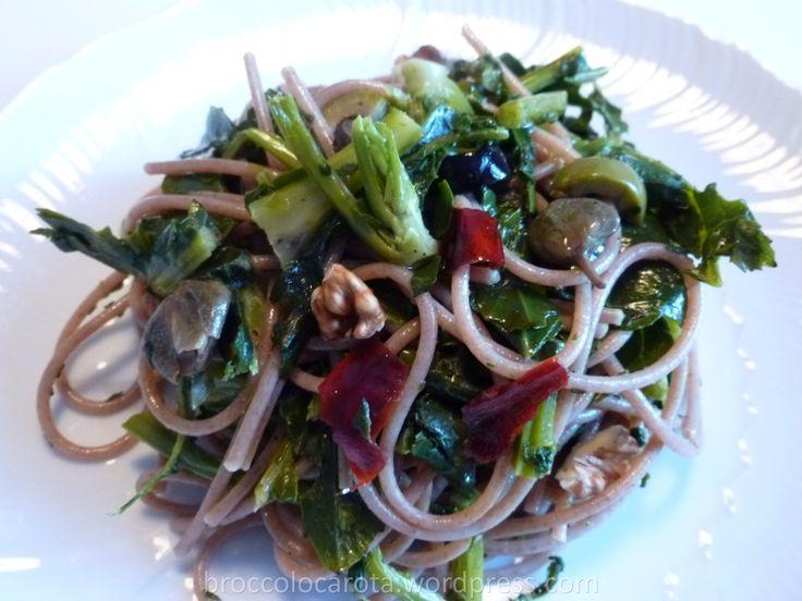 spaghetti di farro integrale con broccolo fiolaro