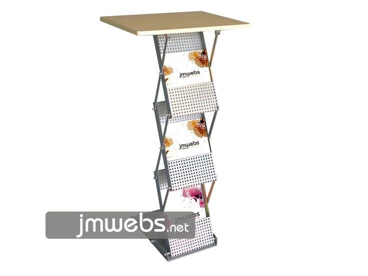 Mostrador Stand Promocional Portafolletos plegable. Precios en www.jmwebs.net o Teléfono 935160047