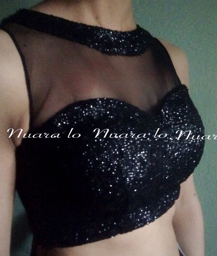 Black sequenced blouse
