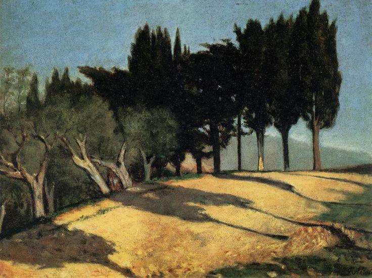 Toscane, route de campagne, par Giuseppe Abbati
