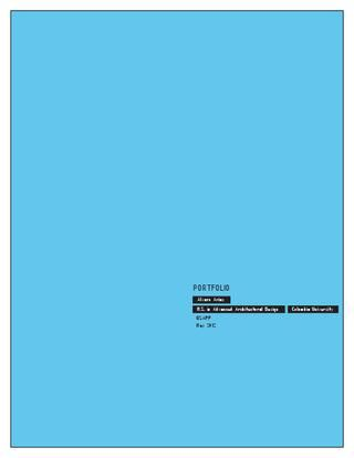 Architecture Portfolio. Columbia University