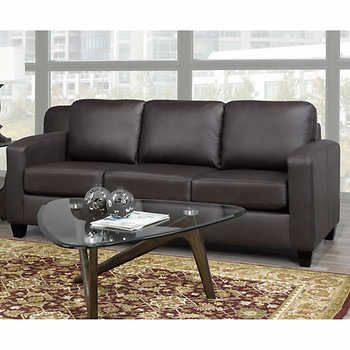 Summit Park Brown Top Grain Leather Sofa