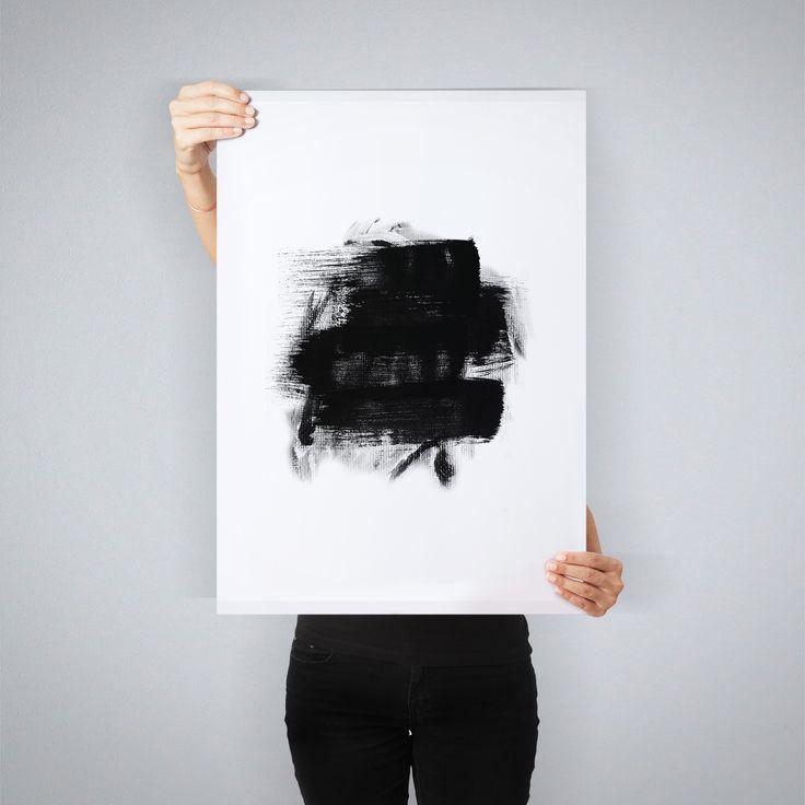 """Black Brush"" // art print by People of Tomorrow"