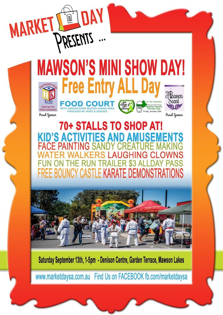 Mawson Lakes Mini Show Day.