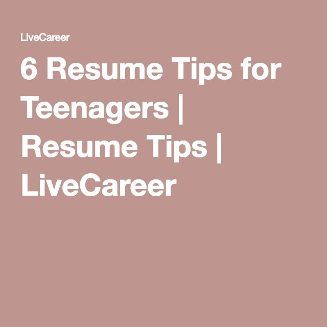 17 best Teen job searches images on Pinterest Job resume, High - how do you write a resume for your first job