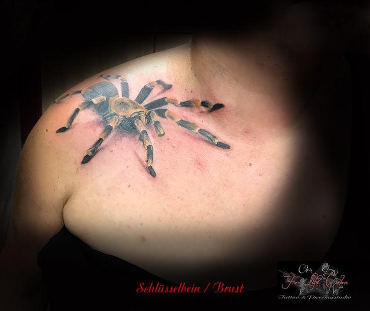 Schlüsselbein / Brust #forlifecolor #inked #tattoochris #christattoo #tattooraubling #ink #instatattoo #nofilter #instagood #tats #spinnentattoo #realistictattoo #tattoodesign #tattooartist #tattoo #tattoos #tattoostyle #tattooedgirls #finlinetattoo #tattooidea #tattoolife #tattoolovers #tattooart #tattooed